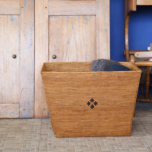 新聞ストッカー (BOX385) Rosily(ロージリー) バリ島 アタかご雑貨 収納バスケット