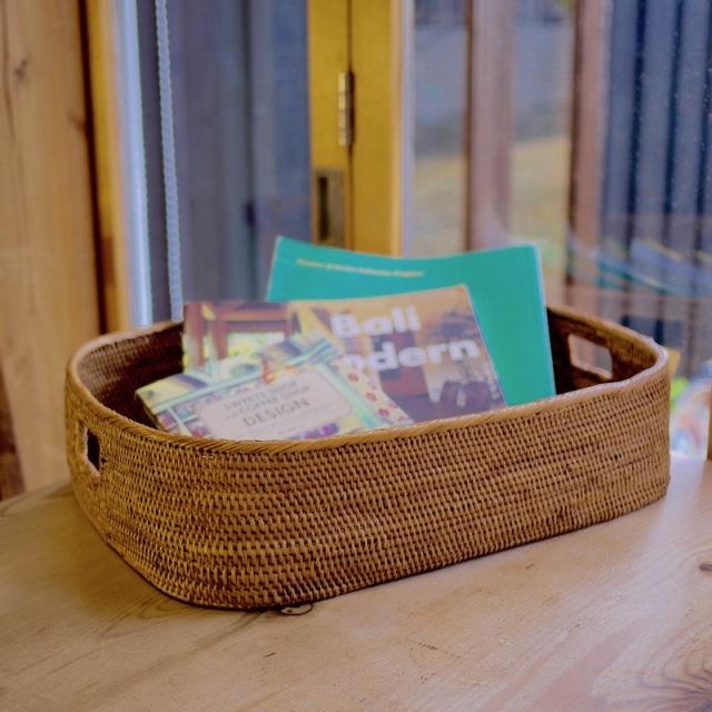収納箱楕円 Lサイズ  (BOX392)  Rosily(ロージリー) バリ島 アタかご雑貨