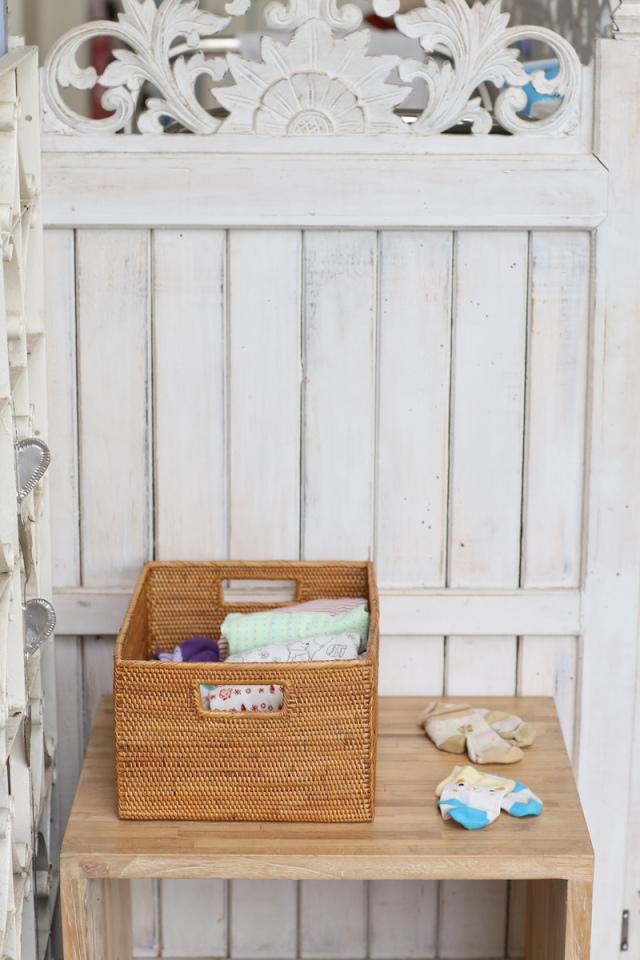 Rosily(ロージリー) バリ島 アタかご雑貨 長方形小物入れ穴空き (BOX414)