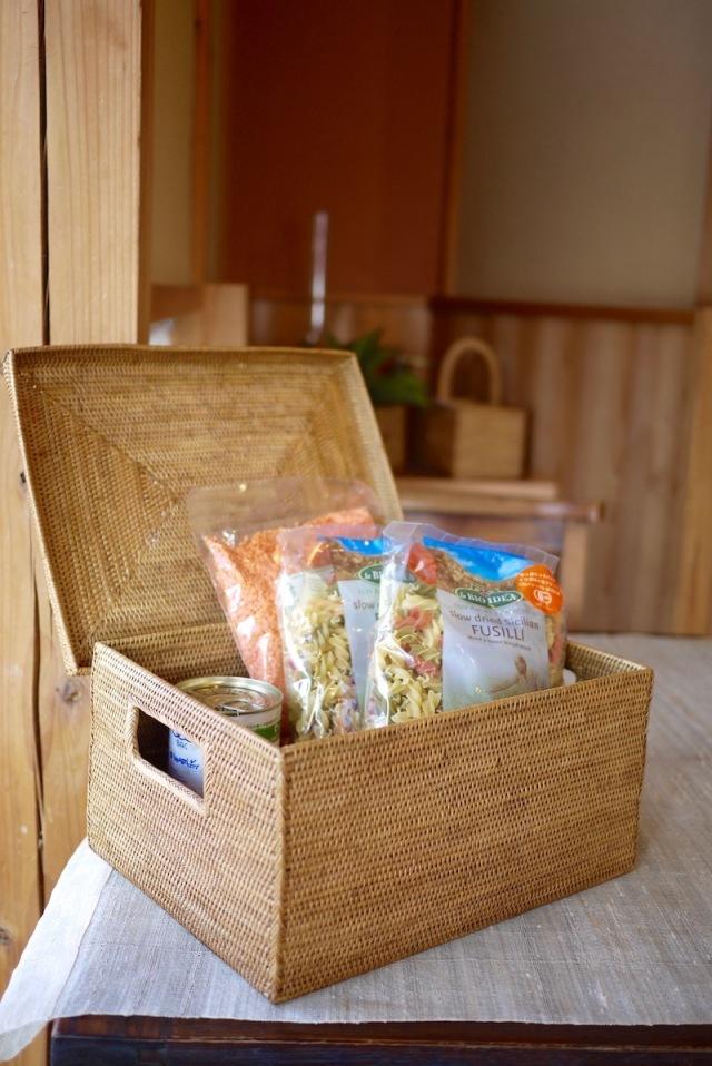 Rosily(ロージリー) バリ島 アタかご雑貨 蓋付き靴箱型 (BOX415)
