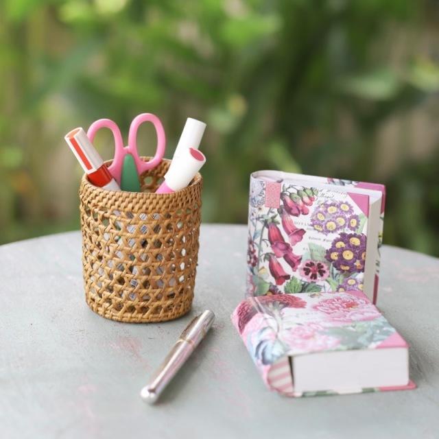 円柱ペン立てSサイズ編み編み (BOX420)  Rosily(ロージリー) バリ島 アタかご雑貨