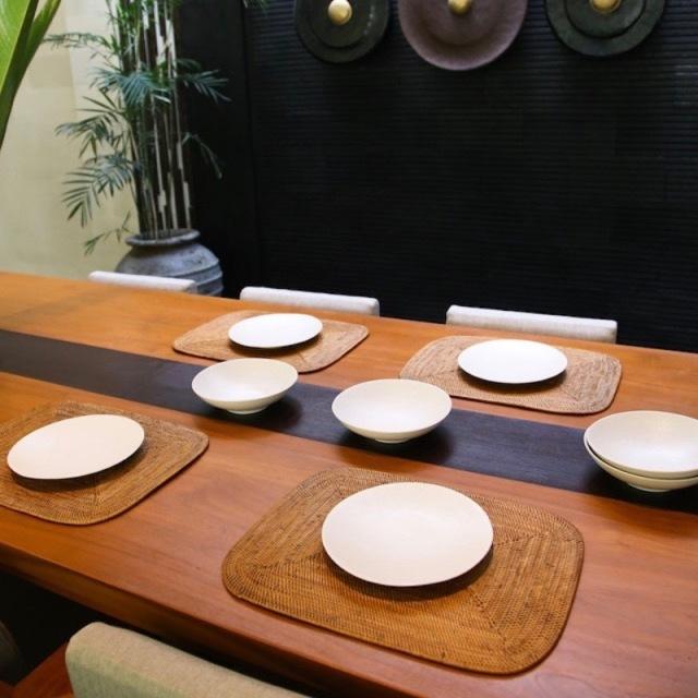 角丸ランチョンLサイズ 1枚 (MAT180)  Rosily(ロージリー) バリ島 アタかご雑貨 キッチンマット