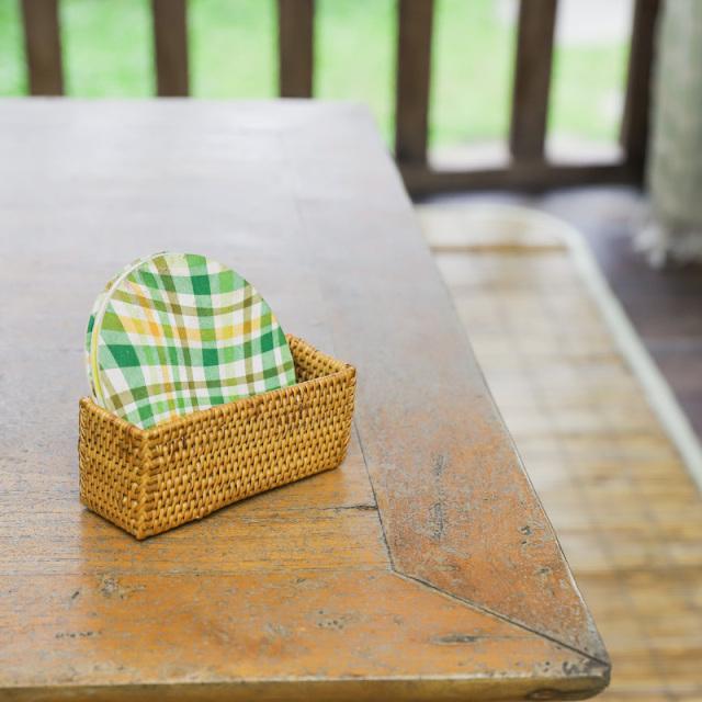 コースター入れ (MAT193) Rosily(ロージリー) バリ島 アタ雑貨 キッチン カード入れ 小物入れ