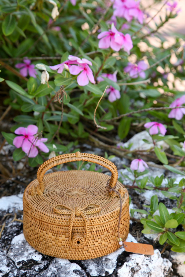 Rosily(ロージリー) バリ島 アタバスケット 円柱蓋付1段S (NAB501)