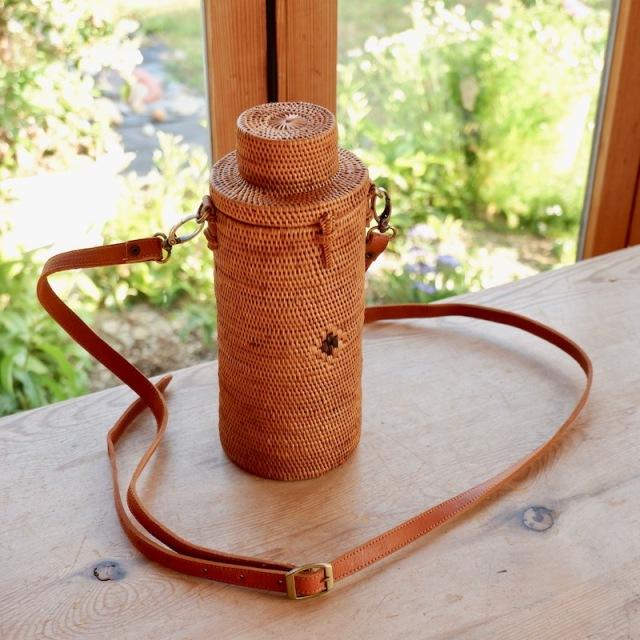 ペットボトルショルダー (NAB507) Rosily(ロージリー) バリ島 アタかごバッグ ピクニック
