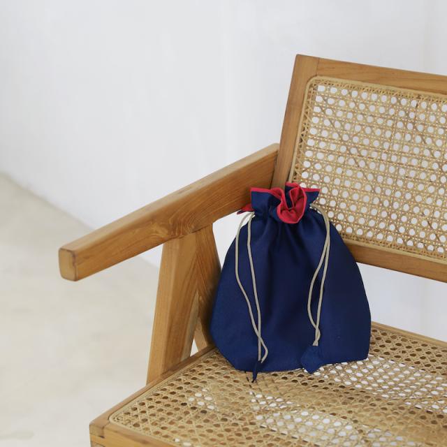 イカット巾着Sサイズ (OPT971) Rosily(ロージリー) バリ島 アタかごバッグ 浴衣や着物にも エコバッグ ポーチ