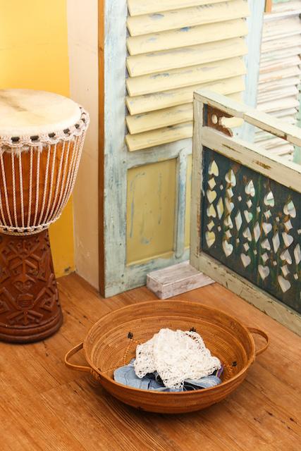 Rosily(ロージリー) バリ島 アタかご雑貨 持ち手付き丸カゴ (OVL239)