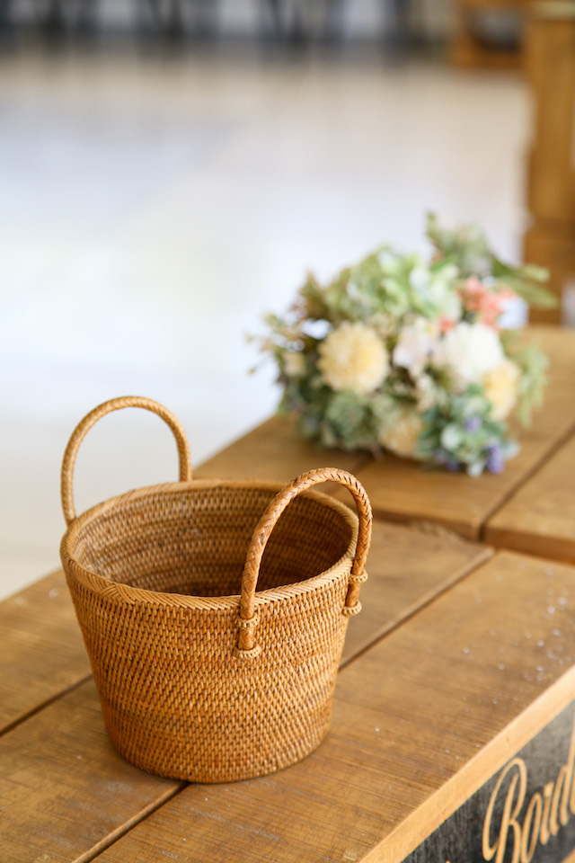 Rosily(ロージリー) バリ島 アタかご雑貨 鉢カバーS (OVL243)
