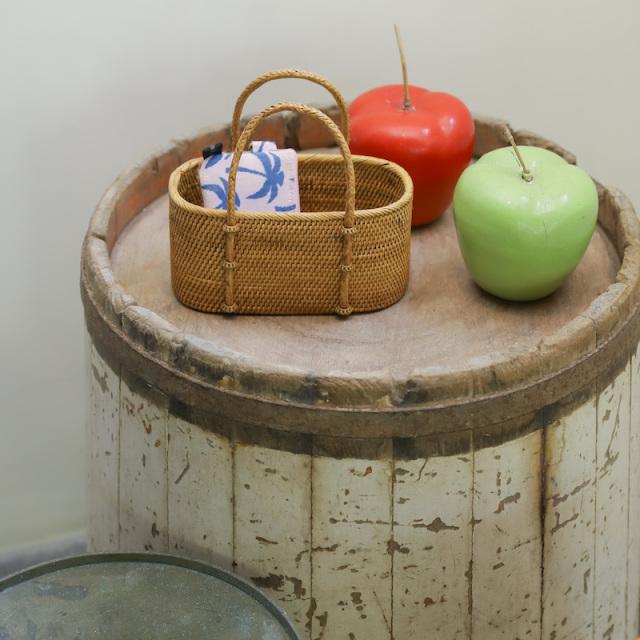 野菜籠持手付きSSサイズ (OVL253)  Rosily(ロージリー) バリ島 アタかご雑貨 キッチン 収納バスケット
