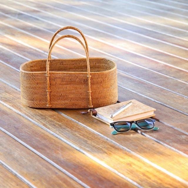 野菜籠持手付きSサイズ (OVL254)  Rosily(ロージリー) バリ島 アタかご雑貨 キッチン 収納バスケット