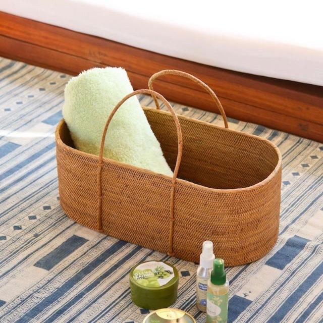 野菜籠持手付きLサイズ (OVL256)  Rosily(ロージリー) バリ島 アタかご雑貨