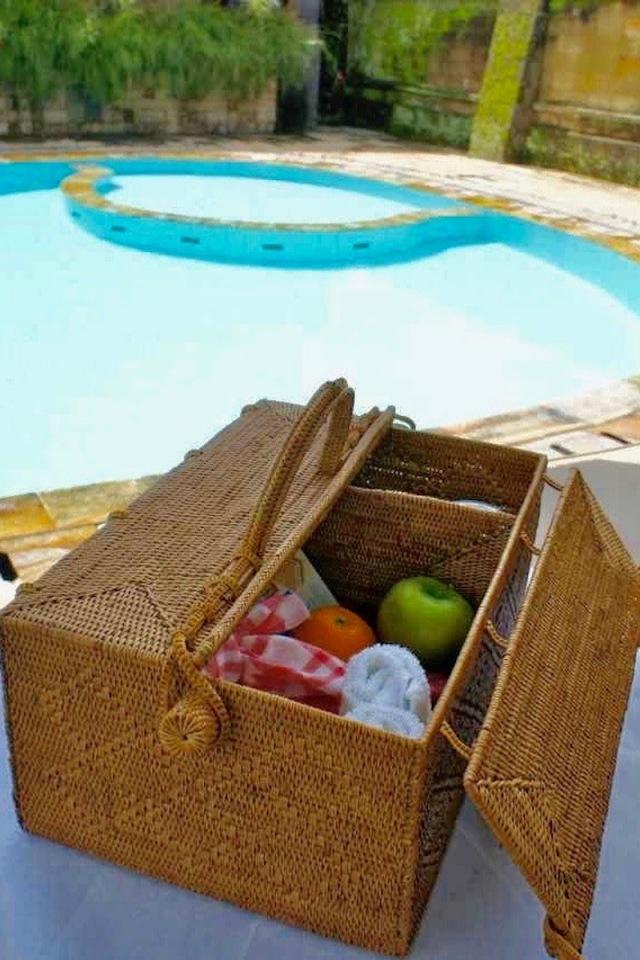 ピクニックボックス Lサイズ  (PNC153)  Rosily(ロージリー) バリ島 アタバスケット