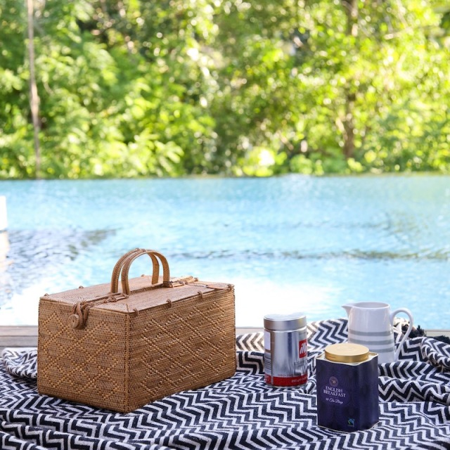 ピクニック LLサイズ (PNC154)  Rosily(ロージリー) バリ島 アタかご雑貨 コスメ 茶籠 裁縫箱
