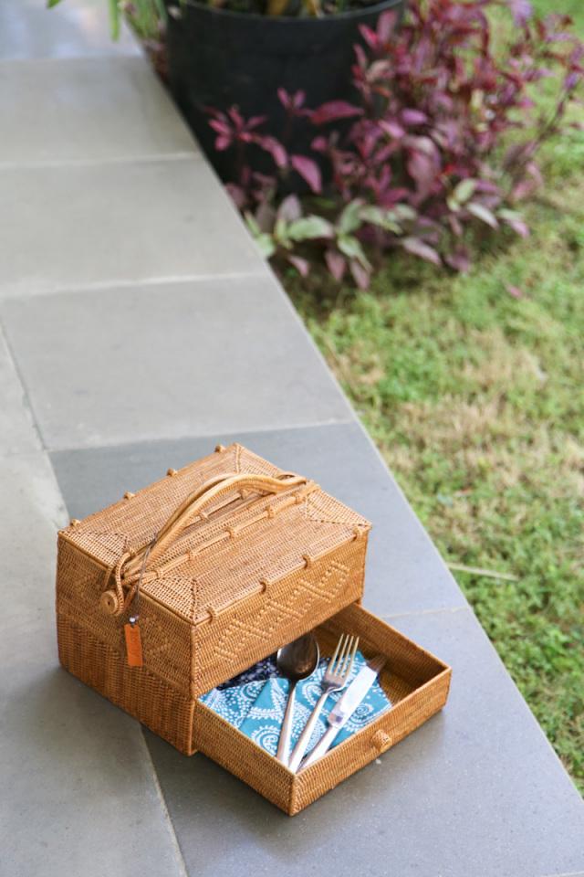 ピクニック引出し付き (PNC156)  Rosily(ロージリー) バリ島 アタバスケット