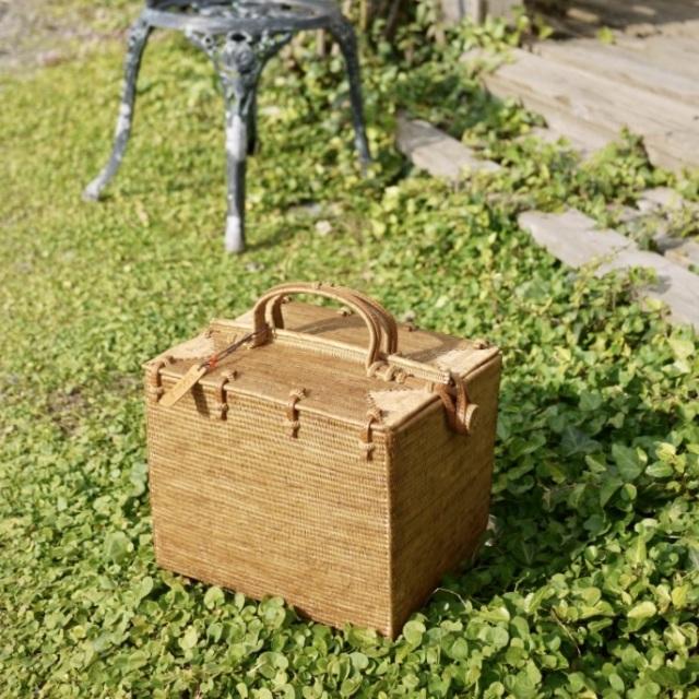 ピクニックスーパースクエア(PNC161-KAWA) Rosily(ロージリー) バリ島 アタバスケット コスメ 茶籠 裁縫箱