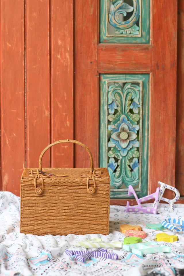 おでかけBOX (PNC165)  Rosily(ロージリー) バリ島 アタかご雑貨