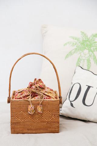 茶籠ちゃかご (PNC166)  Rosily(ロージリー) バリ島 アタバスケット コスメ 裁縫箱