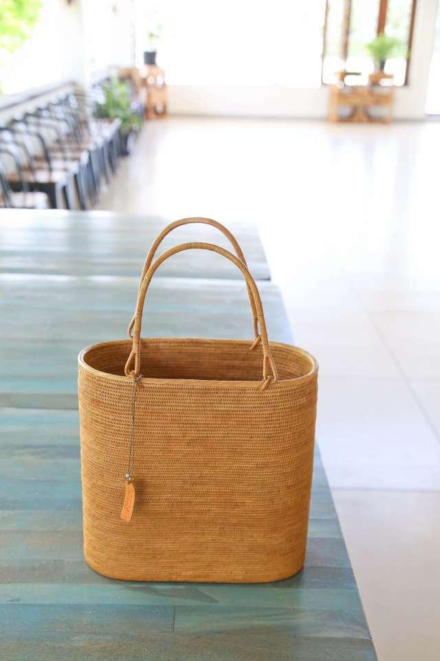 Rosily(ロージリー) バリ島 極細編みアタかごバッグ 浴衣や着物にも 楕円ウルトラスーパーL  (SAB116)