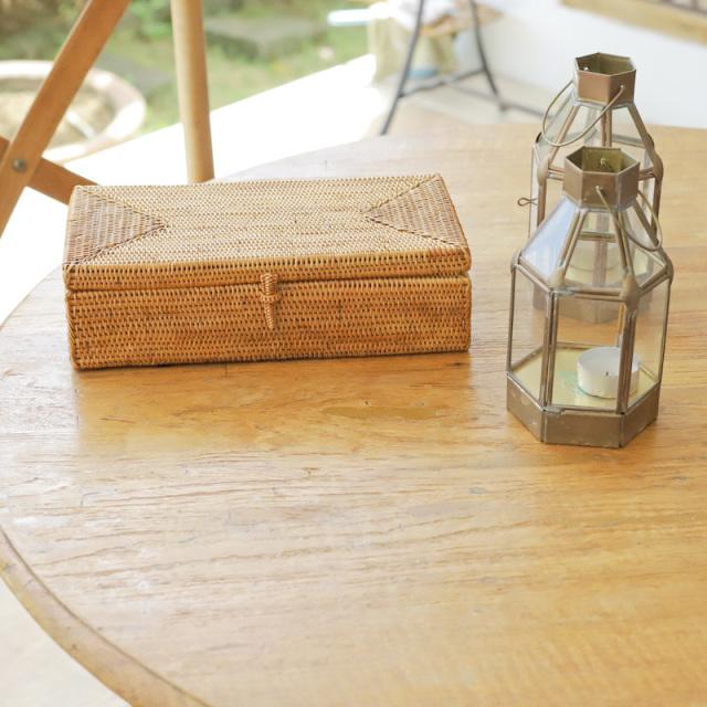ティッシュケース薄型 密閉タイプ (TIS218) Rosily(ロージリー) バリ島 アタかご雑貨 ティッシュボックス ティッシュカバー