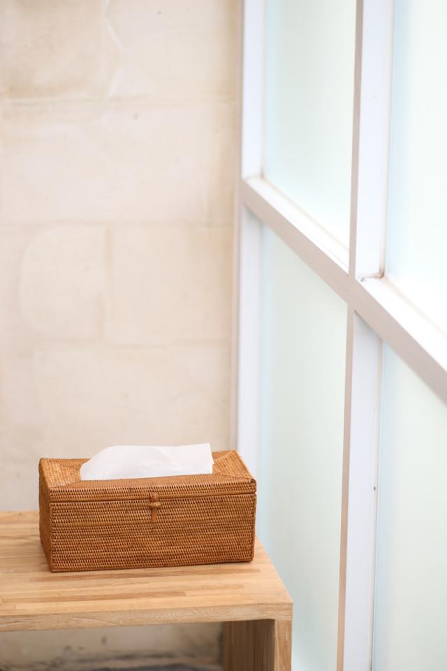 Rosily(ロージリー) バリ島 アタかご雑貨 ティッシュボックス厚型(TIS221)