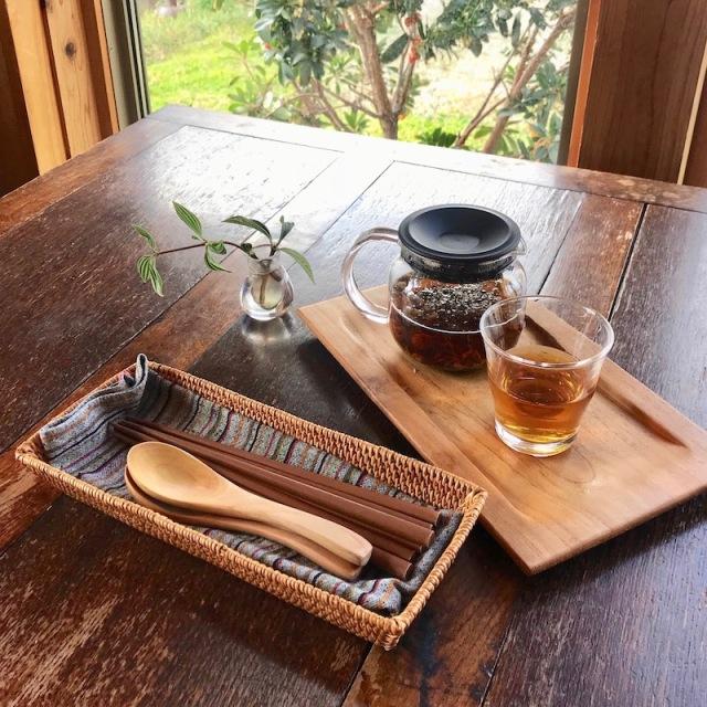 台形カトラリー入れ (TRY288)  Rosily(ロージリー) バリ島 アタかご雑貨