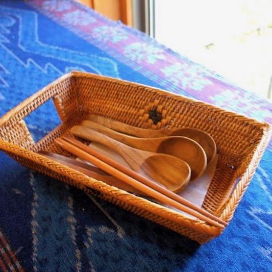 カトラリー台形Lサイズ (TRY290)  Rosily(ロージリー) バリ島 アタかご雑貨