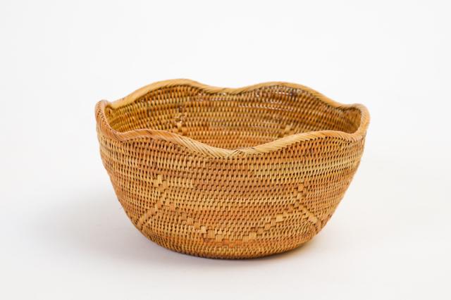 Rosily(ロージリー) バリ島 アタかご雑貨 波型円形深皿 (TRY292)
