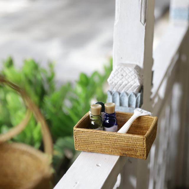 小箱 (TRY315)  Rosily(ロージリー) バリ島 アタかご雑貨 キッチン収納 リビング