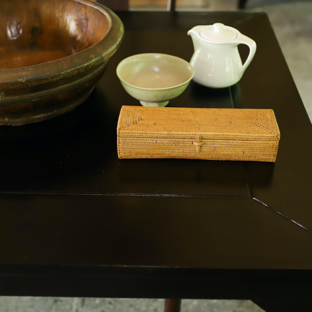 カトラリー蓋付Mサイズ (TRY331)  Rosily(ロージリー) バリ島 アタかご雑貨