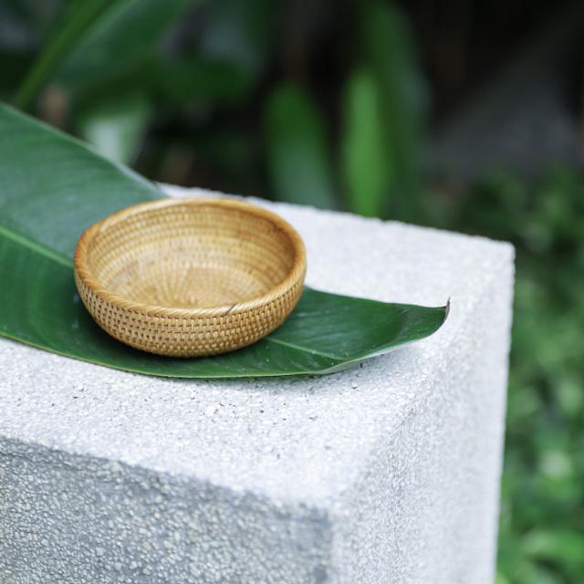 円形深皿Sサイズ (TRY338)  Rosily(ロージリー) バリ島 アタかご雑貨 雑貨 キッチン リビング