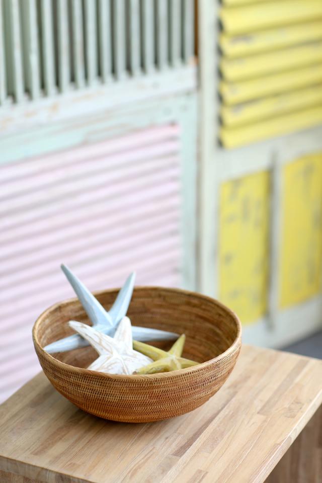 Rosily(ロージリー) バリ島 アタかご雑貨 円形深皿L (TRY340)