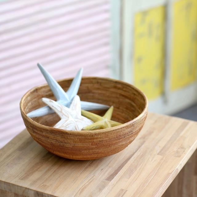 円形深皿L (TRY340)  Rosily(ロージリー) バリ島 アタかご雑貨