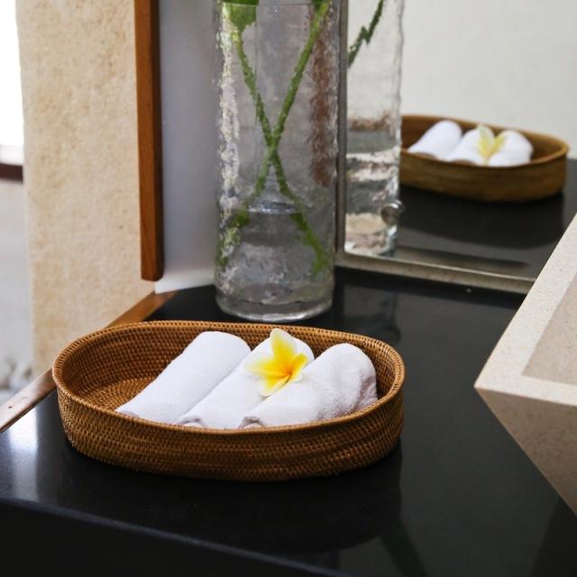 楕円トレイMサイズ (TRY342)  Rosily(ロージリー) バリ島 アタかご雑貨