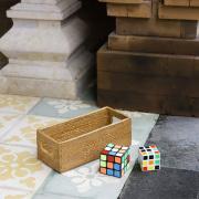 角型調味料入れ (BOX348)  Rosily(ロージリー)バリ島 アタかご雑貨 キッチン収納