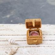 四角蓋付ミニBOX (BOX359)  Rosily(ロージリー) バリ島 アタかご雑貨