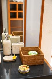 正方形小物入Sサイズ (BOX363)  Rosily(ロージリー) バリ島 アタかご雑貨