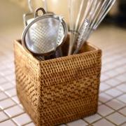 正方形網目 (BOX366)  Rosily(ロージリー) バリ島 アタかご雑貨