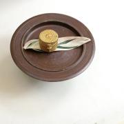 円柱蓋付きSSサイズ (BOX402)  Rosily(ロージリー) バリ島 アタかご雑貨 キッチン収納