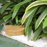 オーバル蓋付きLサイズ (BOX412)  Rosily(ロージリー) バリ島 アタかご雑貨 キッチン収納