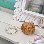 ボール蓋付きSSサイズ (BOX427)  Rosily(ロージリー) バリ島 アタかご雑貨