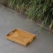 収納箱四角(蓋にも使える)超浅型S  (BOX446)    Rosily(ロージリー) バリ島 アタかご雑貨 収納バスケット リビング