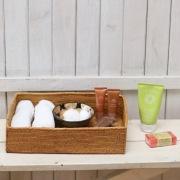 収納箱四角 浅型Sサイズ  (BOX450) Rosily(ロージリー) バリ島 アタかご雑貨 収納バスケット リビング 片付け 書類入れ
