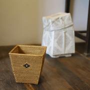 逆台形ダストボックスS (DST215)  Rosily(ロージリー) バリ島 アタかご雑貨 リビング キッチン ゴミ箱