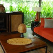 リビングマット楕円形Mサイズ (MAT175) Rosily(ロージリー) バリ島 アタかご雑貨 ランチョンマット キッチンマット 玄関マット