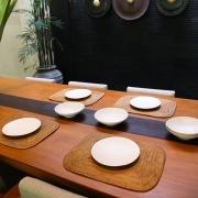 角丸ランチョンLサイズ 1枚 (MAT180)  Rosily(ロージリー) バリ島 アタかご雑貨