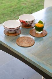 Rosily(ロージリー) バリ島 アタかご雑貨 円形鍋敷Sサイズ 1枚(MAT182)