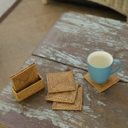 角形コースター6枚セット (MAT190)  Rosily(ロージリー) バリ島 アタかご雑貨 リビング キッチンマット