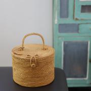 楕円蓋付き1段Mサイズ (NAB500)  Rosily(ロージリー) バリ島 アタバスケット コスメボックス 茶籠  裁縫箱