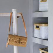 かぶせ蓋つきショルダーMINI (NAB650)  Rosily(ロージリー) バリ島 アタかごバッグ 浴衣や着物にも