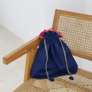 イカット巾着Mサイズ (OPT972) Rosily(ロージリー) バリ島 アタかごバッグ 浴衣や着物にも エコバッグ ポーチ